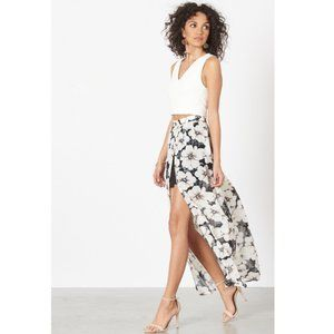 Dynamite Skirts - Dynamite Sheer Maxi Skirt with High Slit
